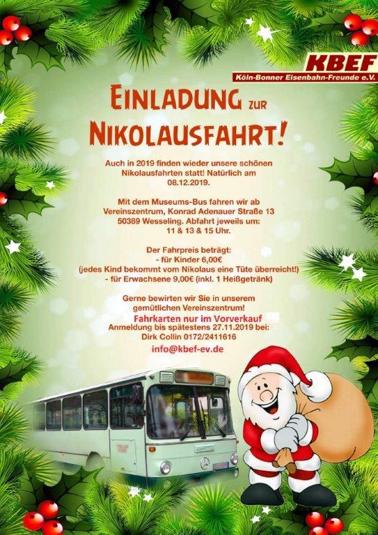 Nikolausfahrt 2019 Plakat