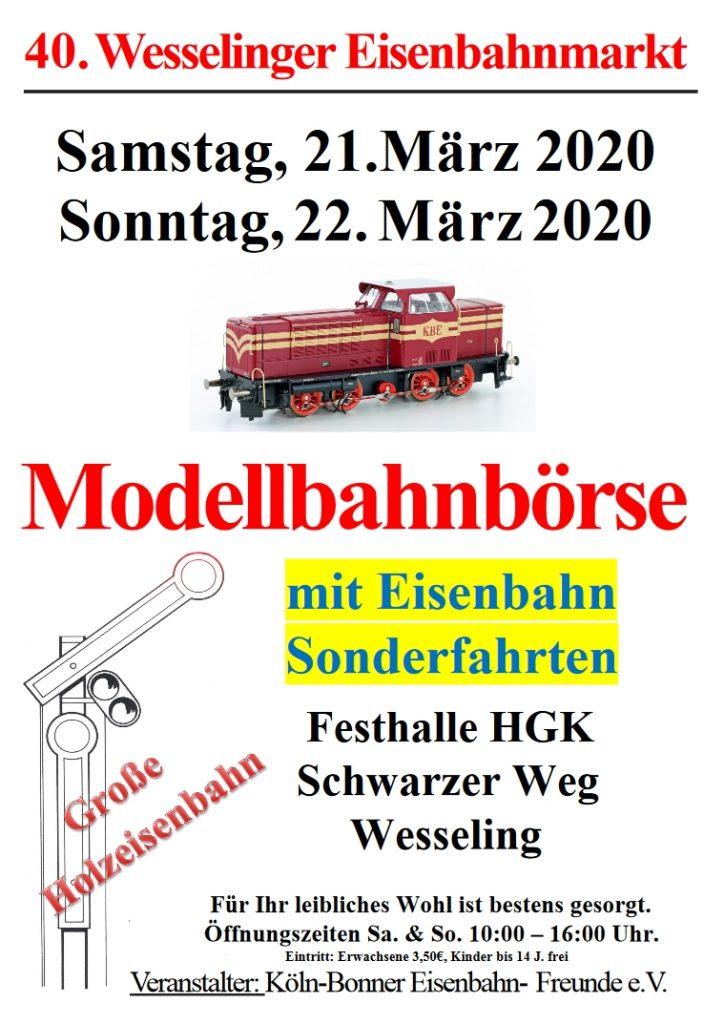 40. Wesselinger Eisenbahnmarkt