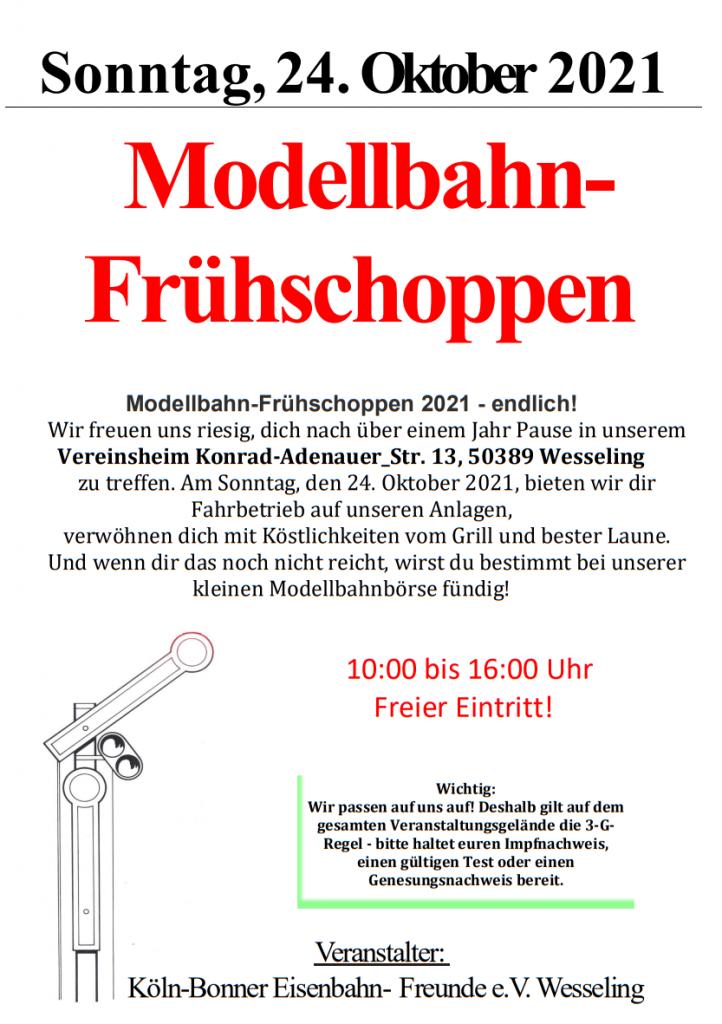 Modellbahn-Frühschoppen-Plakat